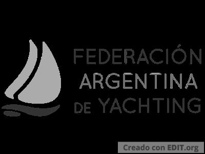 Logo Federacion Argentina de Yachting – Escala de Grises